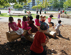 Nature play in a schoolyard (Courtesy: ISGA)