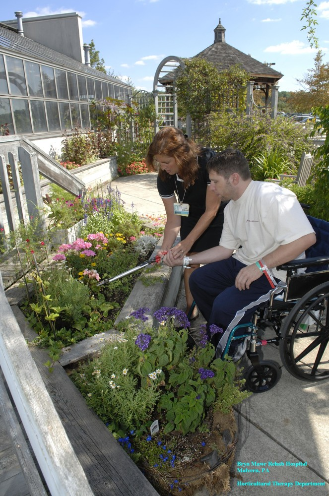 The Enabling Garden At Bryn Mawr Rehab Hospital Therapeutic Landscapes Network