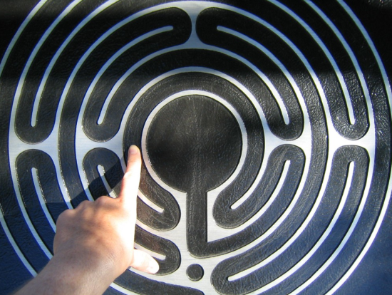 Finger labyrinth at the American Psychological Association. Photo by Naomi Sachs