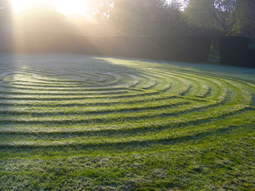 Labyrinth at Burford Priory, courtesy of St. James's Piccadilly