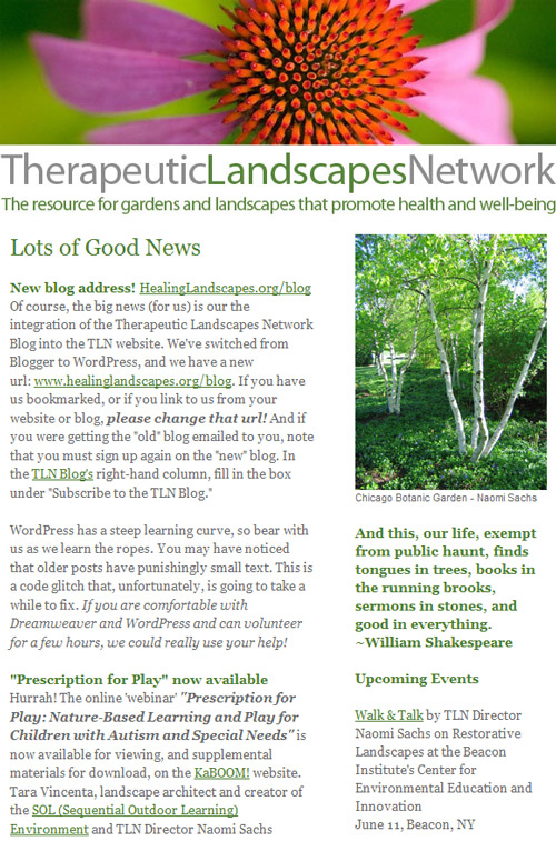tln newsletter